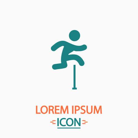medalist: Steeplechase Flat icon on white background. Simple vector illustration Illustration