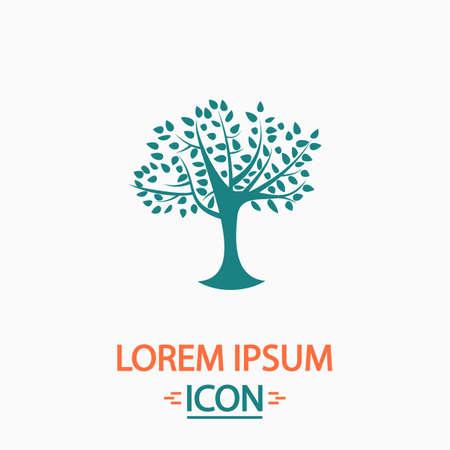 maple tree: Maple tree Flat icon on white background. Simple vector illustration