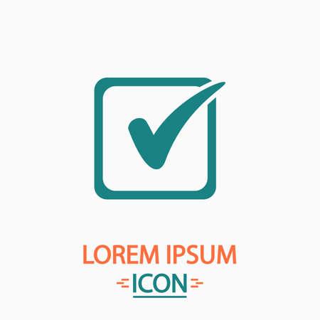 filling folder: Checklist Flat icon on white background. Simple vector illustration