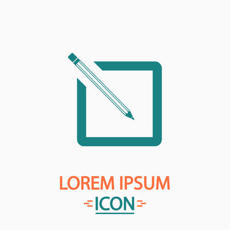 subscription Flat icon on white background. Simple vector illustration