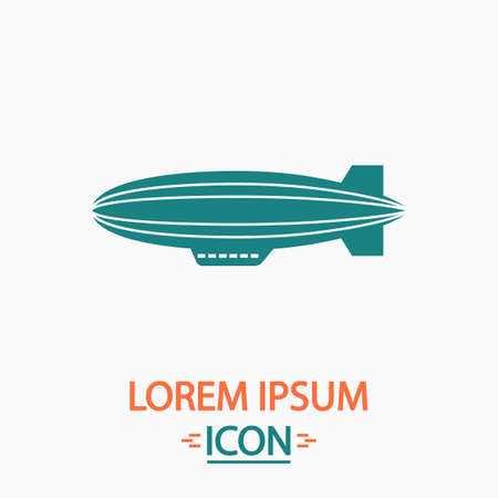 blimp: blimp Flat icon on white background. Simple vector illustration Illustration
