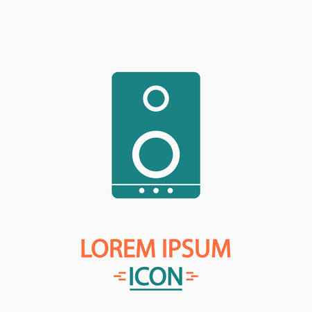 acoustic systems: speaker Flat icon on white background. Simple vector illustration