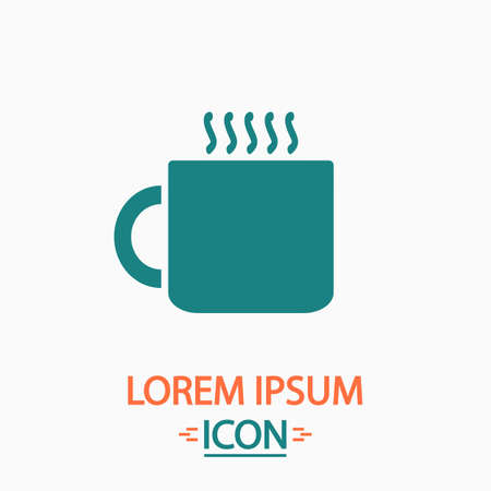 hot cup: Hot cup Flat icon on white background. Simple vector illustration