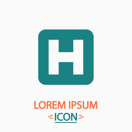 helipad: Helipad Flat icon on white background. Simple vector illustration