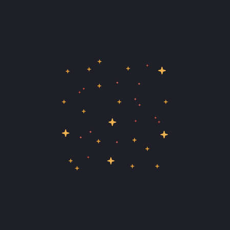 candid: stars Color vector icon on dark background Illustration