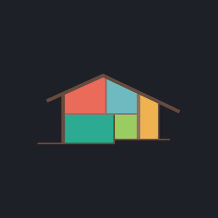 tenancy: cottage Color vector icon on dark background