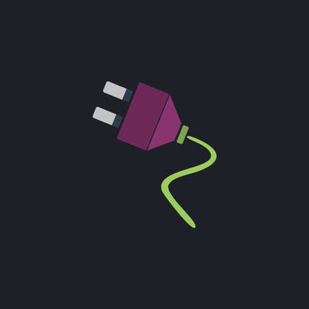 plugs: plugs Color vector icon on dark background