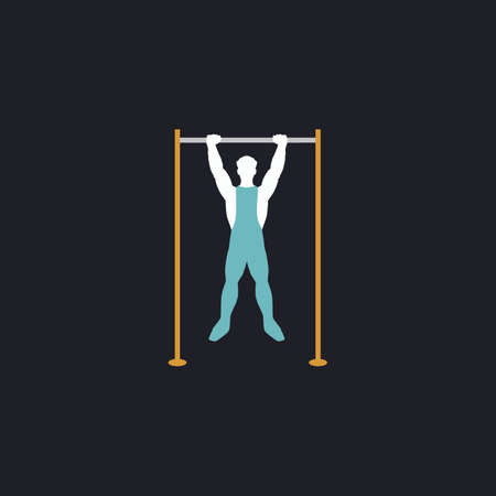 telamon: athlete Color vector icon on dark background