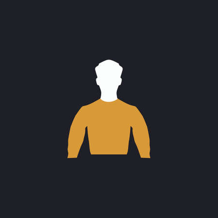 unnamed: Unknown male Color vector icon on dark background Illustration