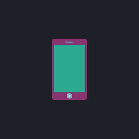 touch phone: touch phone Color vector icon on dark background