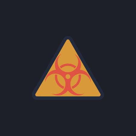 Biohazard Color vector icon on dark background