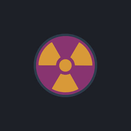 plutonium: Radiation Color vector icon on dark background Illustration