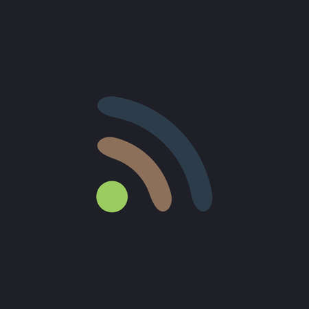 podcast: podcast Color vector icon on dark background