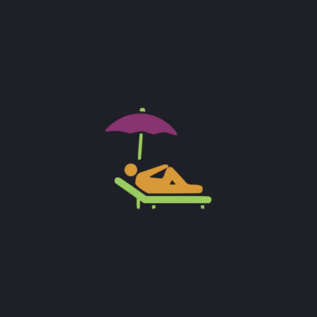 lounger: lounger Color vector icon on dark background