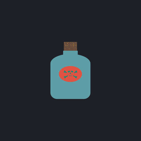 bane: Poison Color vector icon on dark background