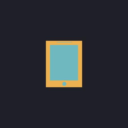 palmtop: tablet Color vector icon on dark background