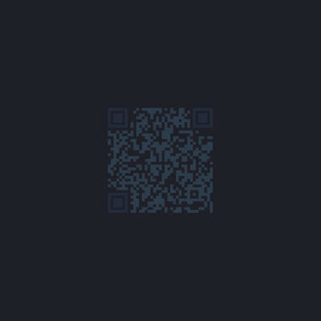 qrcode: Qr code Color vector icon on dark background