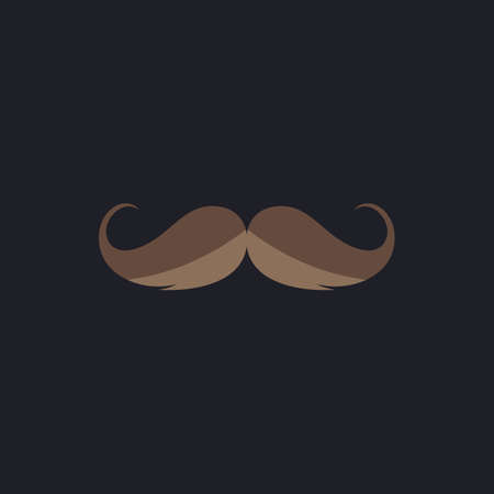chaplin: Mustache Color vector icon on dark background Illustration