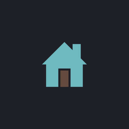 abode: house Color vector icon on dark background
