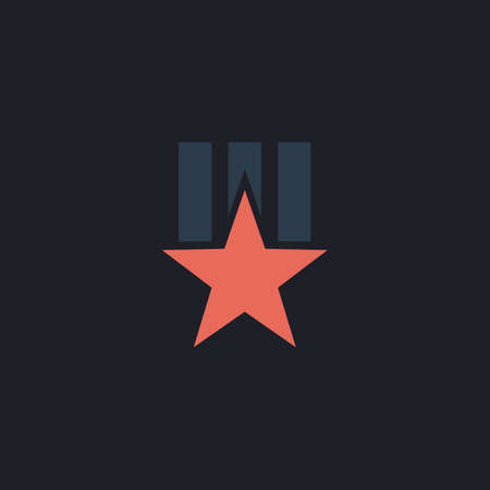 Order star Color vector icon on dark background