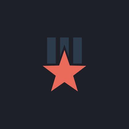 communistic: Order star Color vector icon on dark background