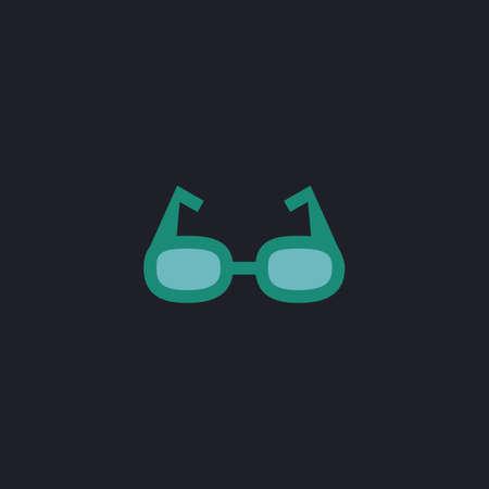 health care decisions: Glasses Color vector icon on dark background