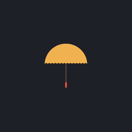 brolly: bumbershoot Color vector icon on dark background Illustration