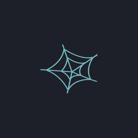 spiderweb: Spiderweb Color vector icon on dark background