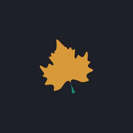halifax: Maple Leaf Color vector icon on dark background