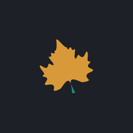 Maple Leaf Color vector icon on dark background