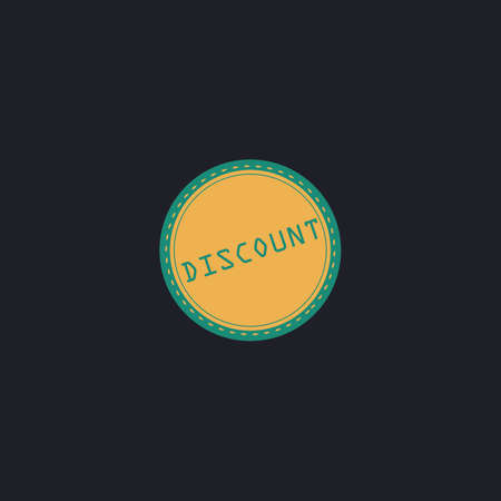 abatement: Discount Color vector icon on dark background