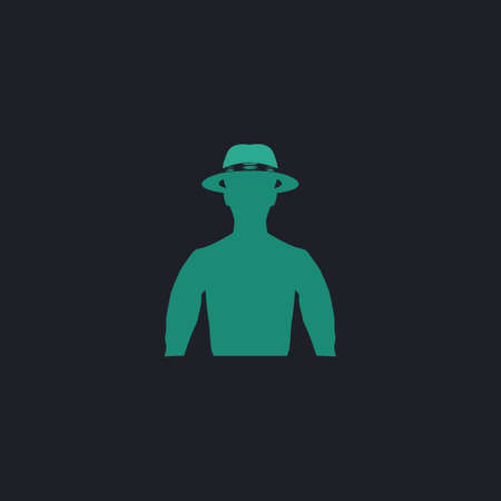 rustler: macho Color vector icon on dark background