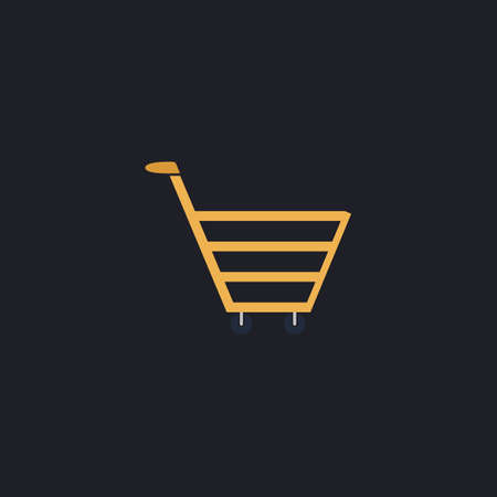 pushcart: cart Color vector icon on dark background