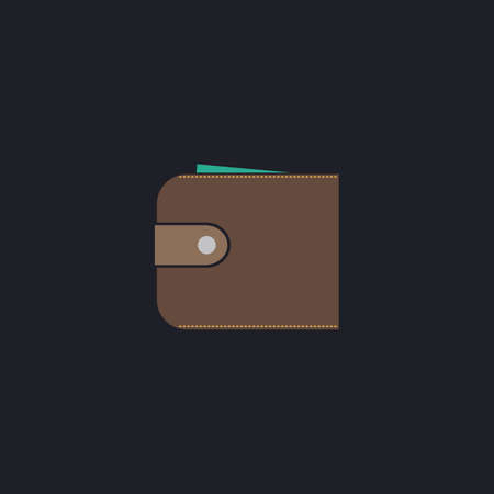 pouch: pouch Color vector icon on dark background