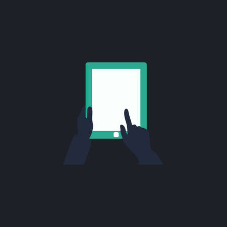 pictogrammes: Tap Tablet Color vector icon on dark background