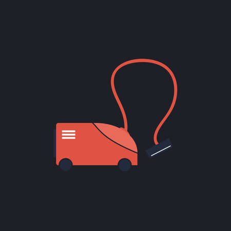 vac: hoover Color vector icon on dark background Illustration