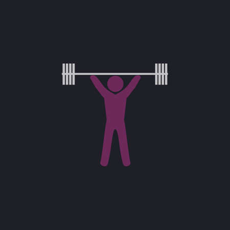 weightlifting: Weightlifting Color vector icon on dark background