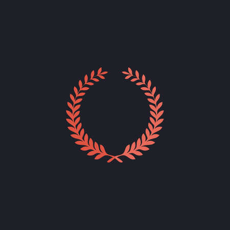 wreath Color vector icon on dark background