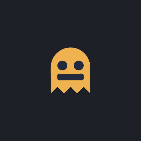 otherworldly: ghost Color vector icon on dark background