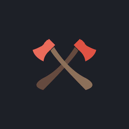 Two axes Color vector icon on dark background