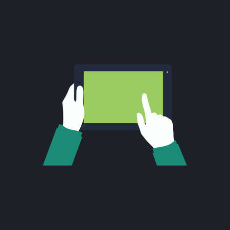 use: Use Tablet Color vector icon on dark background