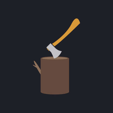 lumberjack: lumberjack Color vector icon on dark background