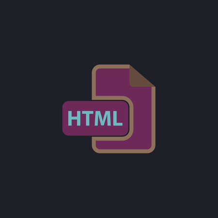 html Color vector icon on dark background