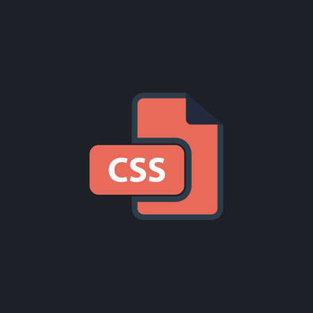 css: CSS Color vector icon on dark background