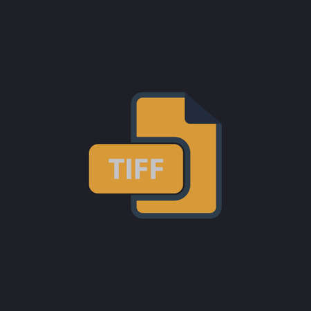 tiff: TIFF Color vector icon on dark background