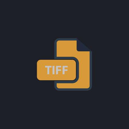 tiff: TIFF Color vector icon on dark background
