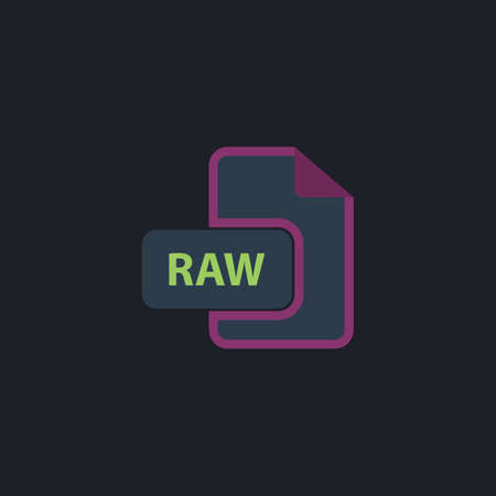 raw: RAW Color vector icon on dark background
