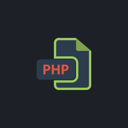 php: PHP Color vector icon on dark background