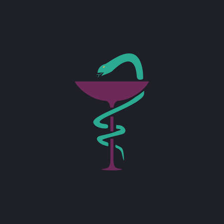 designate: Pharmacy Color vector icon on dark background
