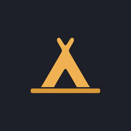 abode: Wigwam Color vector icon on dark background